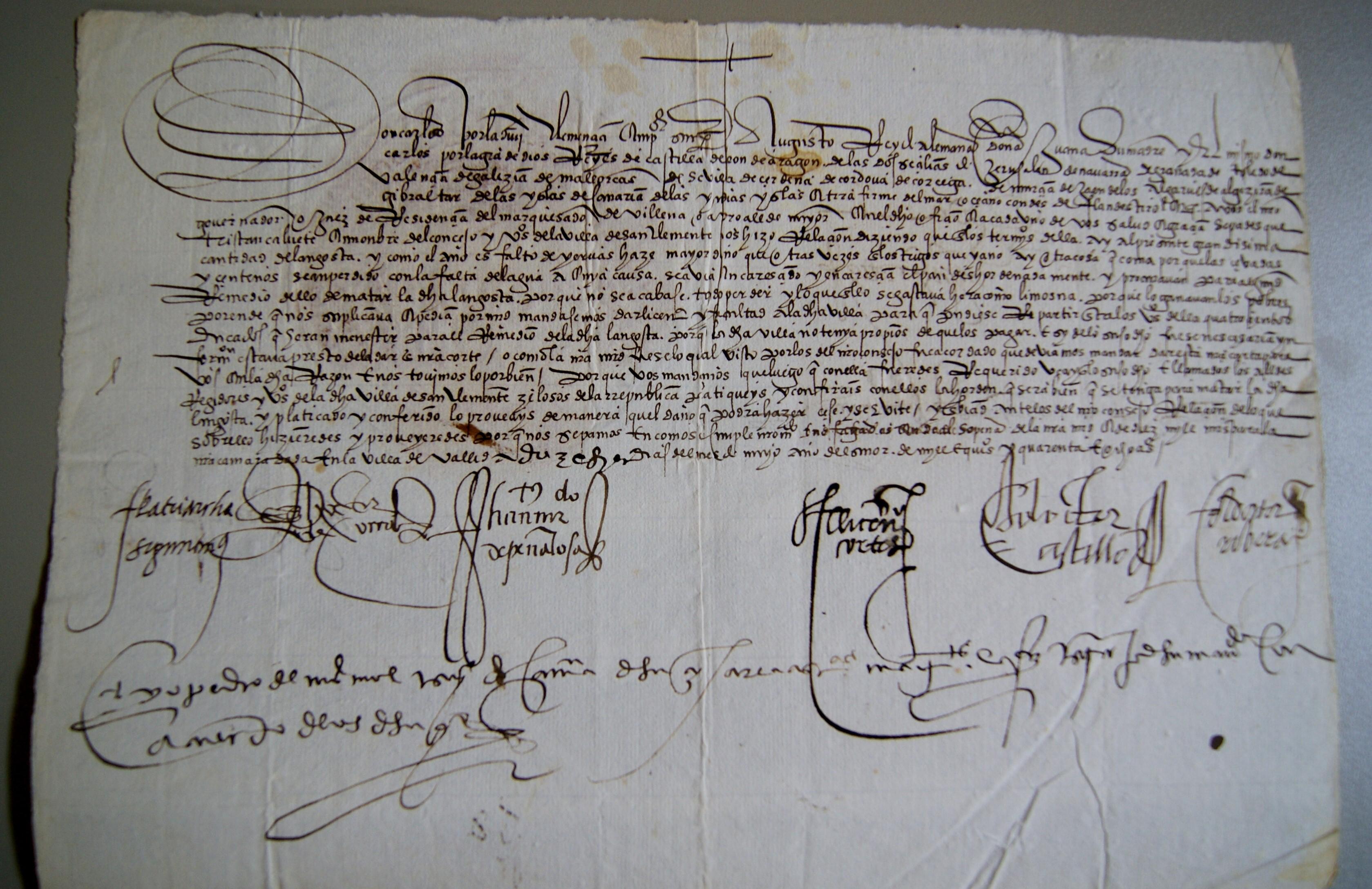 Ordenamiento de la caza en el marquesado de Villena, 1550.