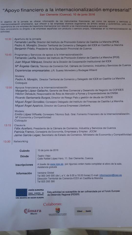 Apoyo Financiero a la Internalización de Empresas en San Clemente 1