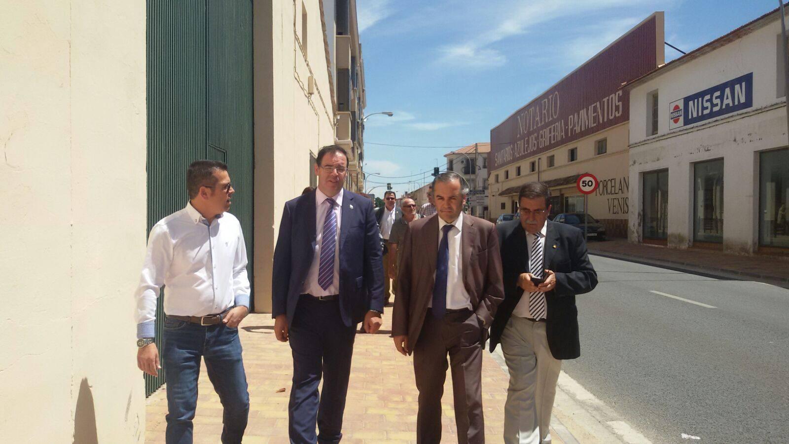 Visita San Clemente Del. gobierno, presidente Diputación de Cuenca 2