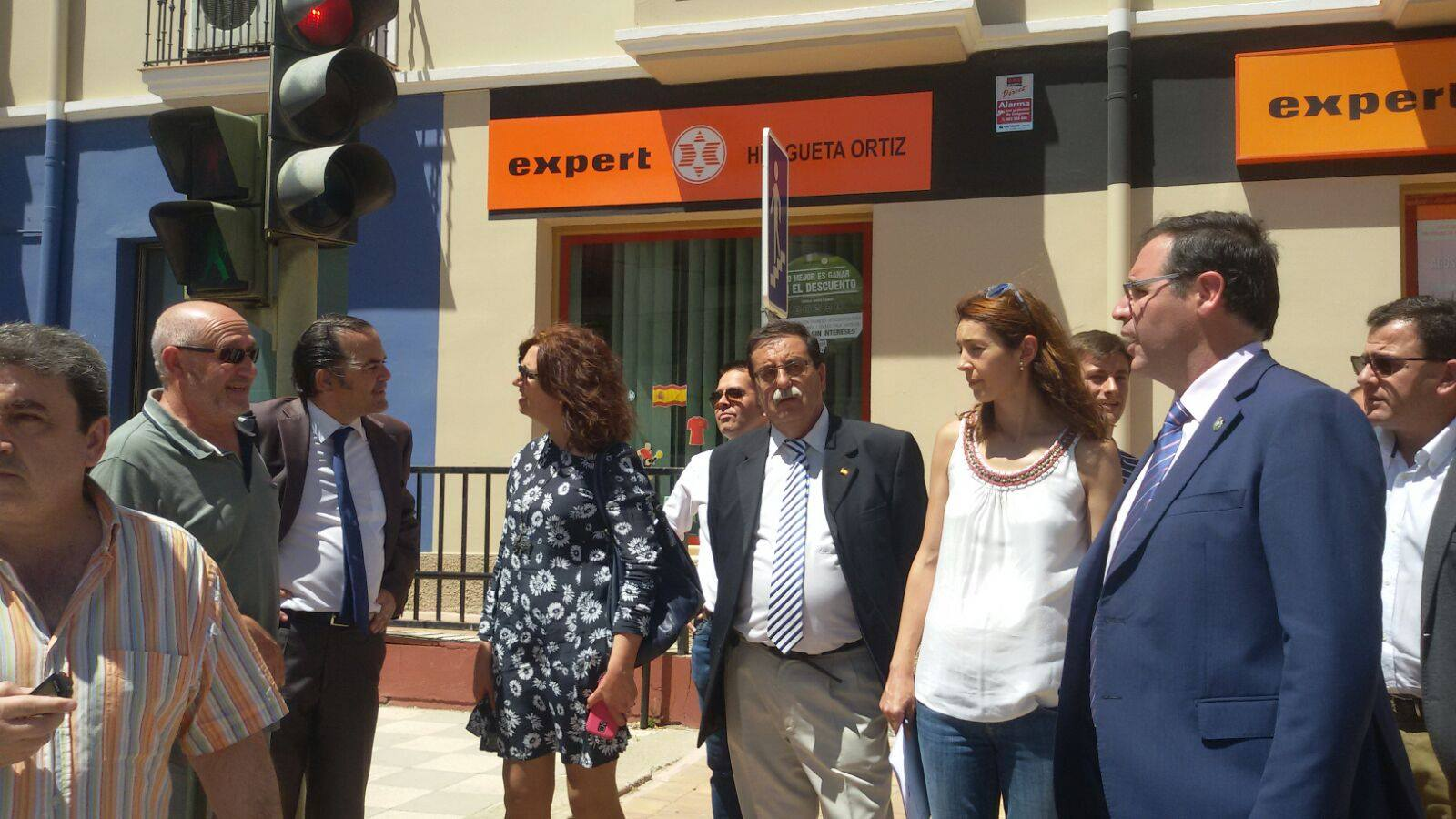 Visita San Clemente Del. gobierno, presidente Diputación de Cuenca