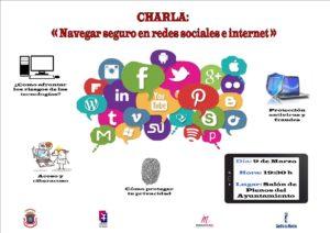 cartel charla redes sociales 8 Marzo