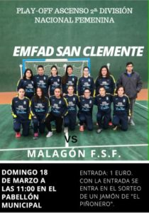 cartel partido futsal femenino play off