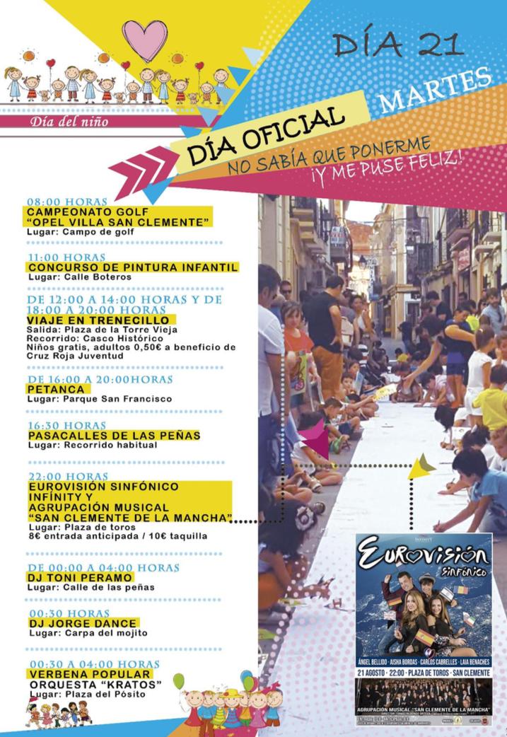 Feria Y Fiestas En San Clemente Martes Ayuntamiento De San Clemente