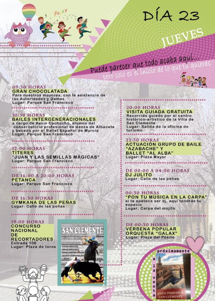 Feria Y Fiestas En San Clemente Jueves Ayuntamiento De San Clemente